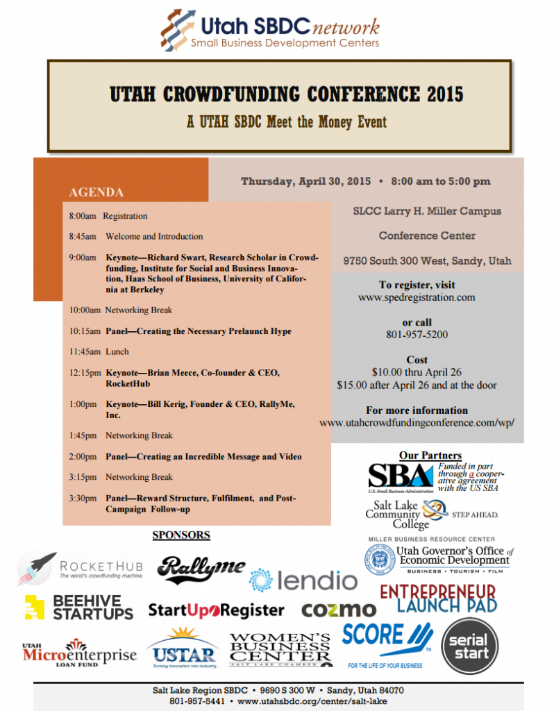 First Major Utah Crowdfunding Conference
